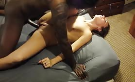 Amateur Girl Gets her Little Pussy Drilled by a BBC at HomeVideo