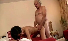 Young Chick Heals Old Cock with her Tight Pussy