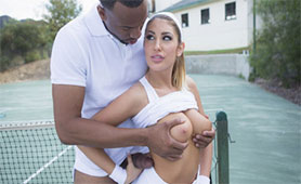 Hot Tennis Player Seduces her Trainer Because She Wants his Fat Black Stick
