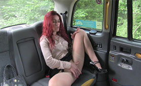 Slutty Redhead MILF Seduces Vicious Taxi Driver