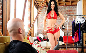 Perfect Body MILF Seduces Young Stallion with Red Underwear